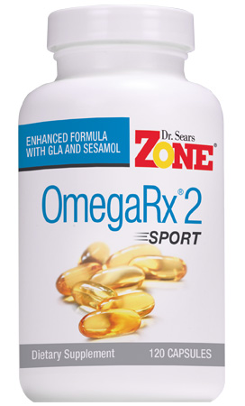 Zone OmegaRx 2 Sport Fish Oil, 120 Capsules