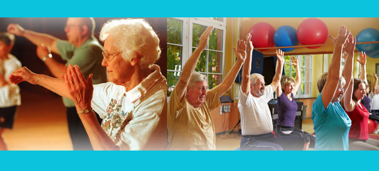 Elderly People Working Out