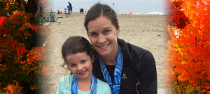 Mom with Daughter at Beach