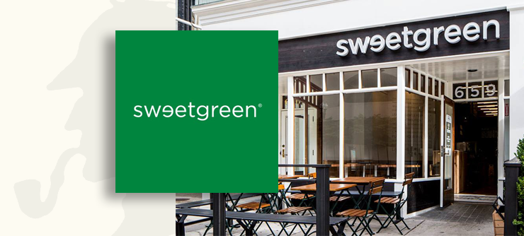 Sweetgreen logo and restaurant