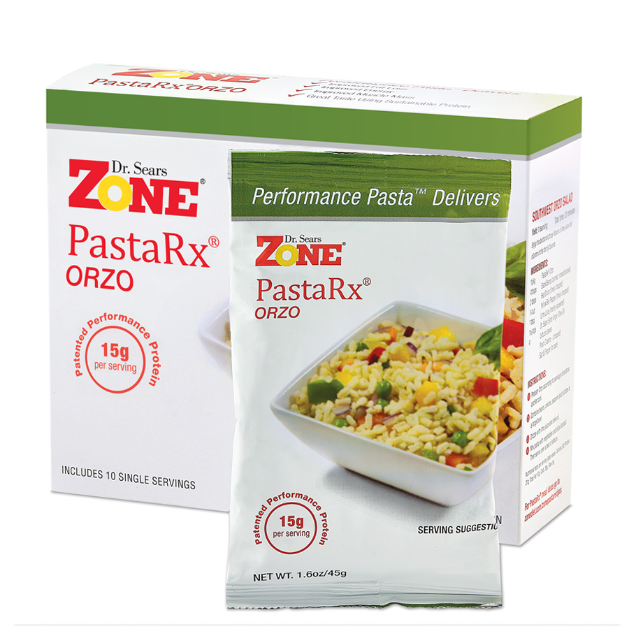 Dr. Sears Zone PastaRx Orzo - 10-pack of Individual Servings