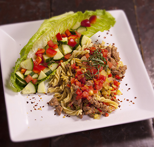 American Chop Suey With Salad