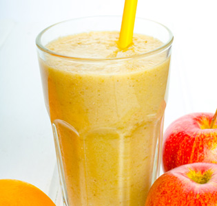 Apple Orange Breakfast Shake