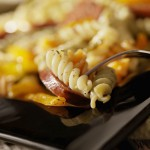 Apple-Walnut Pasta with Chicken Sausage