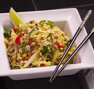 Asian Cabbage Orzo Salad
