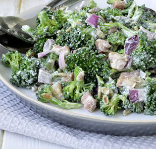 Baked Chicken and Broccoli Salad