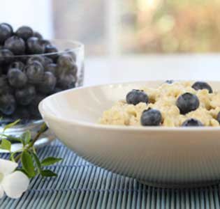 Zone Blueberry Ricotta Oatmeal