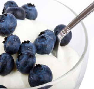 Zone Blueberry Yogurt Breakfast