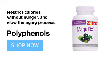 Polyphenols restrict calories without hunger and slow the aging process.