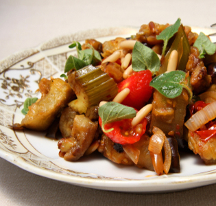 Caponata on the Fly with Chicken