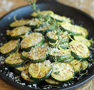 Cheesy Lemon Zucchini