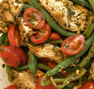 Chicken and Green Beans Italian Style