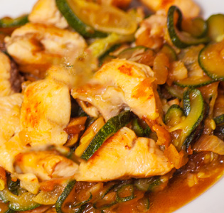 Baked Chicken with Italian Vegetable Packets