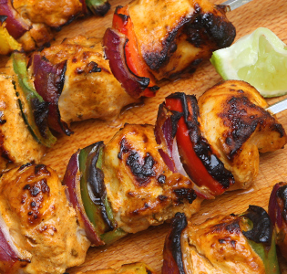 Chicken Satay and Vegetables with Peanut Sauce
