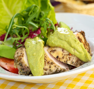 chicken-with-avocado-dip