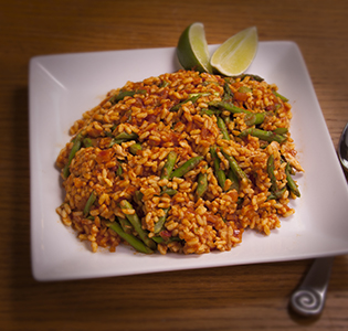 Chili Lime Orzo Asparagus with Salmon
