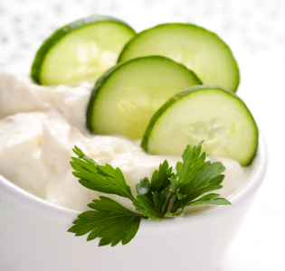 Cucumber Yogurt Snack