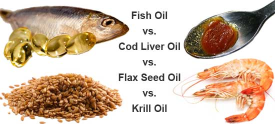 Compare Fish Oil vs. Cod Liver Oil vs. Flax Seed Oil vs. Krill Oil