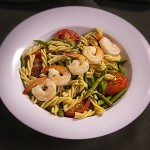 Zone Fusilli with Roasted Tomatoes, Asparagus and Shrimp