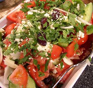 Zone Greek Turkey Salad