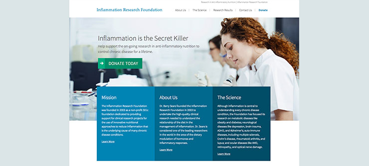 Inflammation Research Foundation Website