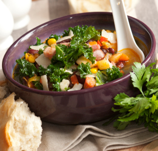 Kale and Bean Soup with Turkey Sausage