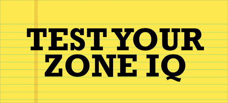 Test your ZONE IQ