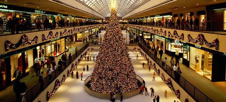 Mall at the Holidays