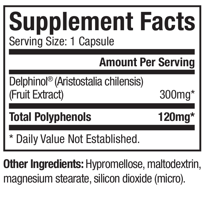 MaquiRx - 30 Capsules - Supplement Facts