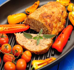 Meatloaf with Cheesy Vegetables