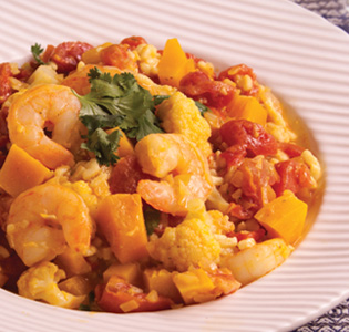 Zone Cauliflower Orzo Curry Bowl