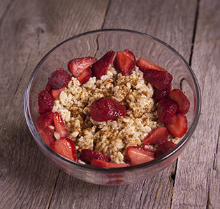 Strawberry Almond Breakfast Pudding
