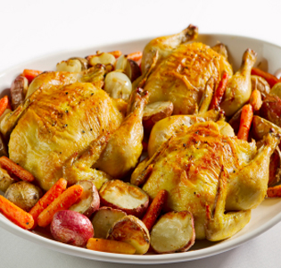 roast-cornish-game-hen-with-pomegranate-glaze