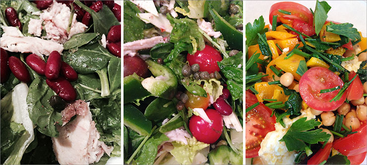 Zone Diet: Three Salads