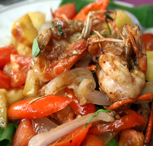 Sweet and Sour Shrimp Salad