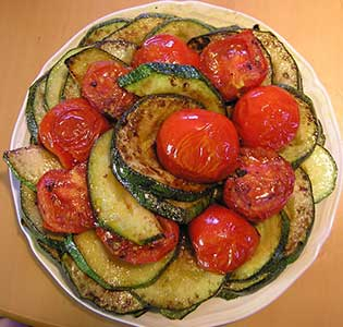 Zone Tomato and Squash Side Dish