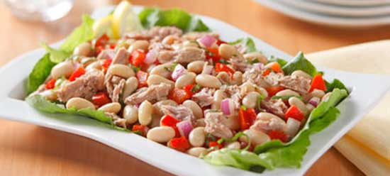 Tuna & White Bean Salad Recipe from the Zone