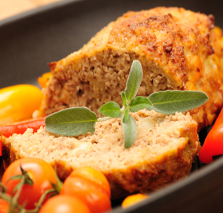 Turkey Loaf with Vegetables and Strawberries