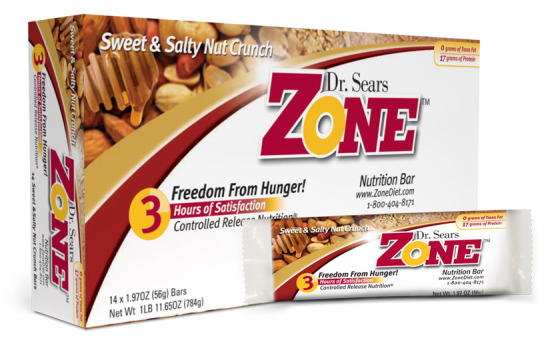 Dr. Sears' Zone Bars - Sweet & Salty Nut Crunch
