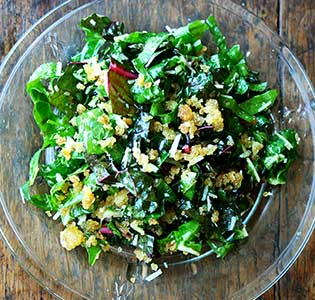 Zone Chard Salad with Parmesan