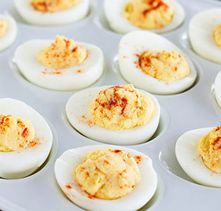 Deviled Eggs with Hummus