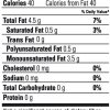 Zone Extra Virgin Olive Oil Nutrition Facts