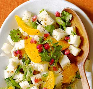 Zone Jicama, Orange and Avocado Salad