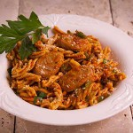 Fusilli Sausage & Peppers