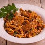 Fusilli Sausage & Peppers - Zone Diet Recipes