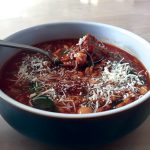 Zone Diet Recipe: Spinach, Meatball, and Chickpea Soup