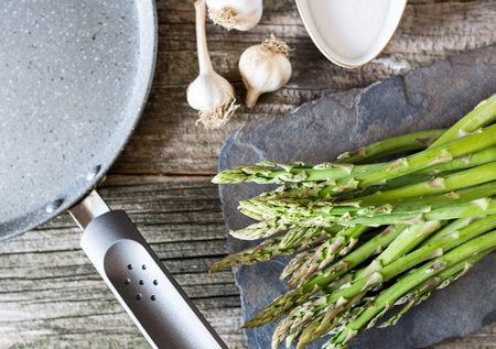 Prebiotics with asparagus and garlic
